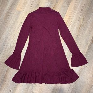 Express Fuchsia Sweater Dress